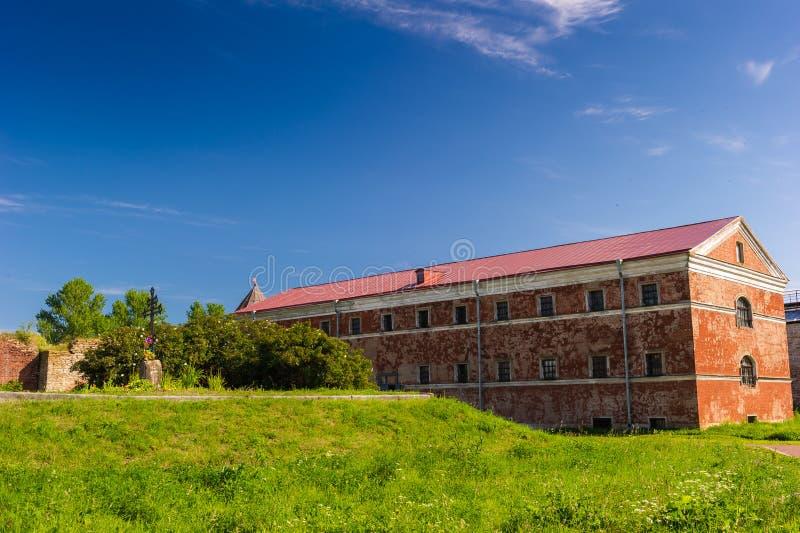 Shlisselburg. Destroyed fortress Oreshek, Shlisselburg, Russian Federation stock photo