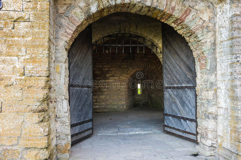 Shlisselburg. Entrance into the castle in Shlisselburg royalty free stock images