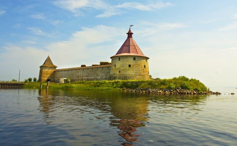 Shlisselburg-Schloss, Russland lizenzfreie stockfotos