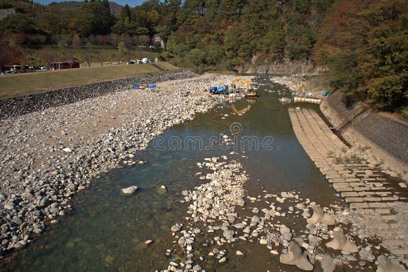 Sho River, Shirakawa-va, il Giappone fotografia stock libera da diritti
