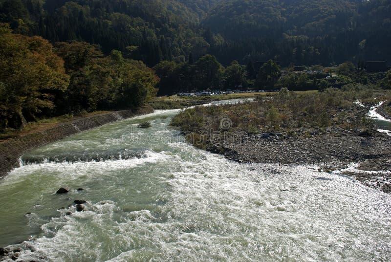 Sho River, Shirakawa-vont, le Japon photo libre de droits