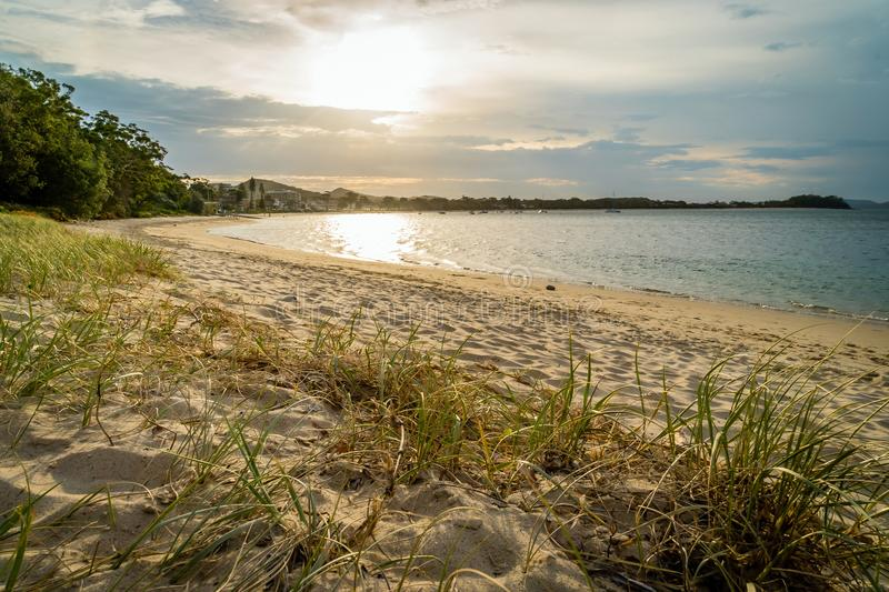 Shoal Bay in New South Wales in the summer, Australia stock photo