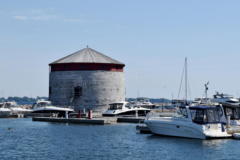 Shoal Tower, Kingston, Ontario, Canada. Shoal Tower, originally known as Victoria Tower, is a Martello tower located in the harbour of Kingston, Ontario, Canada royalty free stock photo