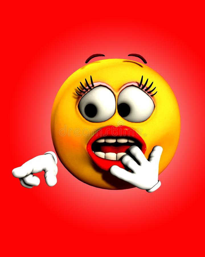 Download Shock 5 stock illustration. Illustration of emotion, face - 5200328