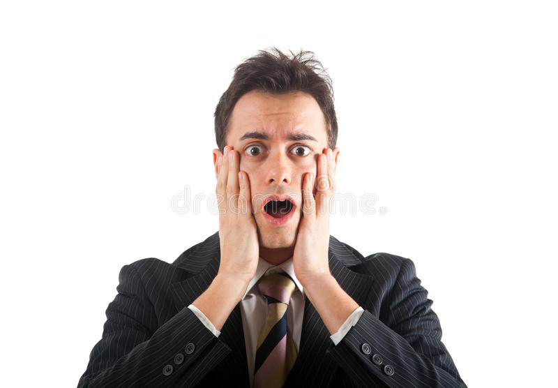 Shock expression royalty free stock photo