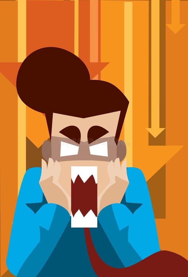 shock för affärsman royaltyfri illustrationer