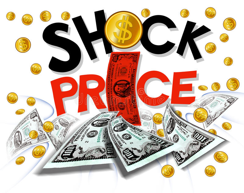 Shock Price Wording Promotion Royalty Free Stock Photography