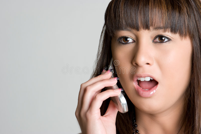 Download Shocked Asian Phone Girl stock photo. Image of teenagers - 8442780