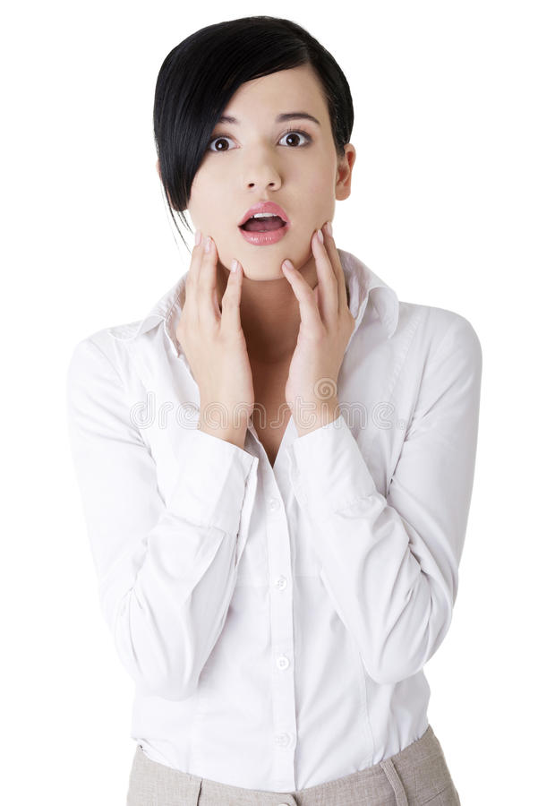Download Shocked businesswoman stock photo. Image of emotion, expression - 27481580