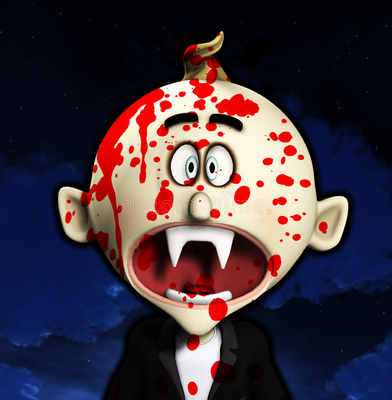 Shocked Cartoon Vampire Stock Image