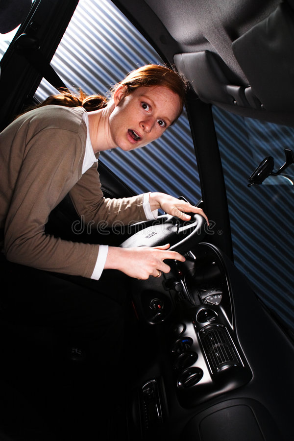 A Shocked Driver stock photography