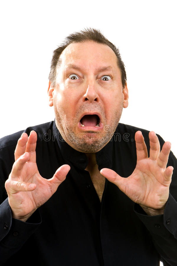 Download Shocked Fearful Man stock photo. Image of horrifying - 23408442