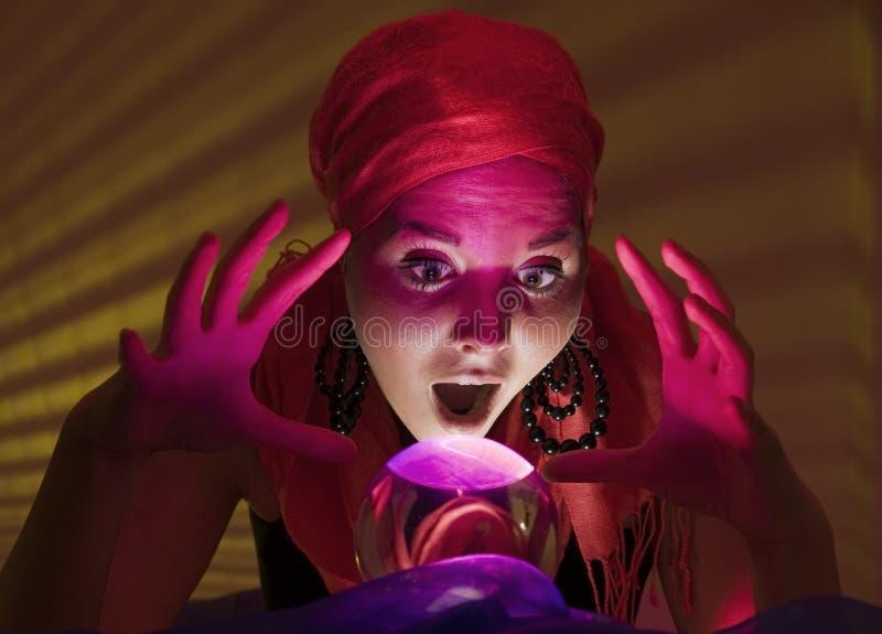 shocked fortune teller stock images
