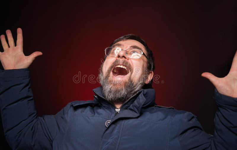 Shocked Happy Man Stock Image