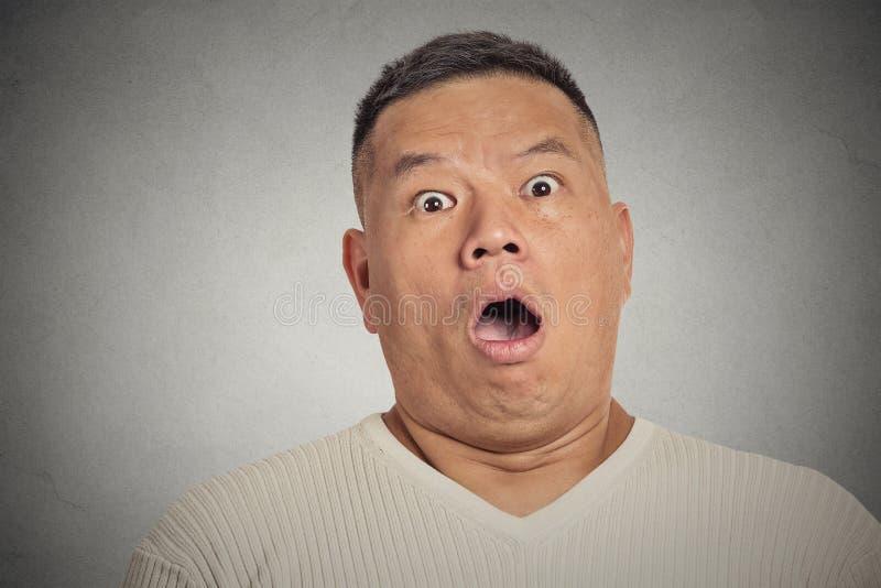Shocked man royalty free stock photo