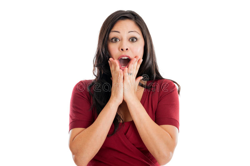 Shocked woman expression stock image. Image of open, hair ...  Shocked woman e...