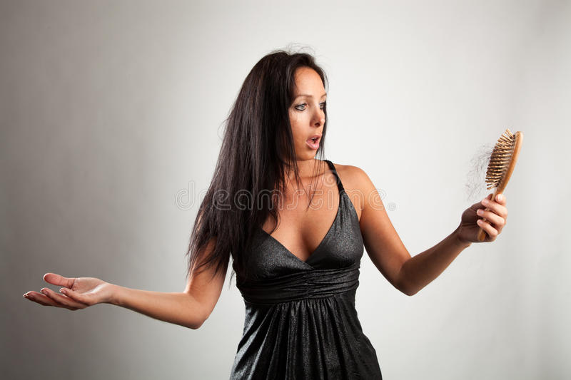 Shocked Woman Is Looking Shocked Stock Photography