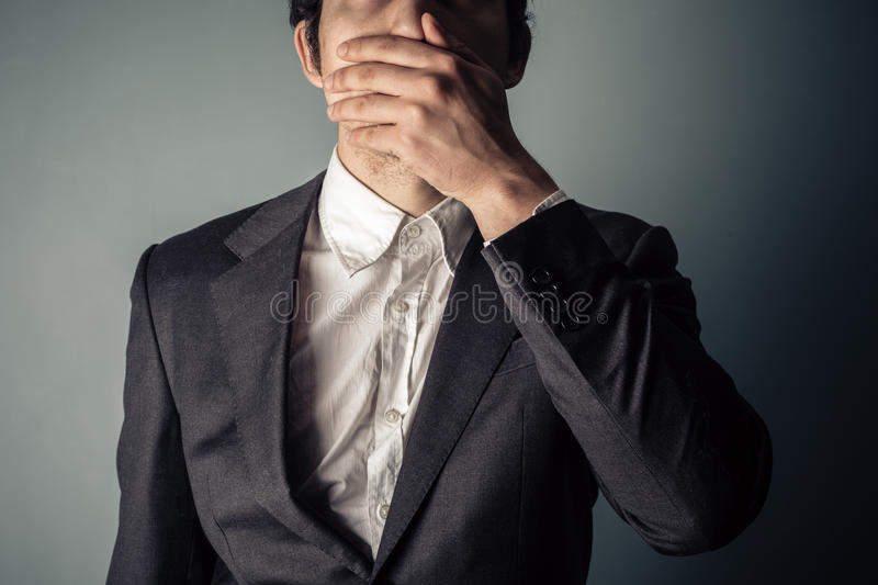 Download Shocked young businessman stock photo. Image of secret - 39298494