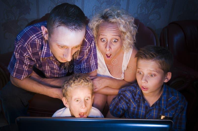 Shockes familiy foto de archivo libre de regalías