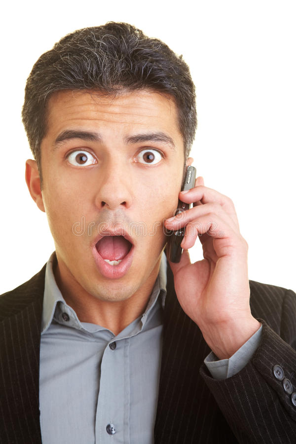Shocking call stock photography
