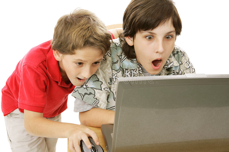 Shocking Internet Content stock images