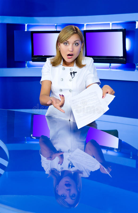 Download Shocking news stock image. Image of live, monitor, mouth - 15279501