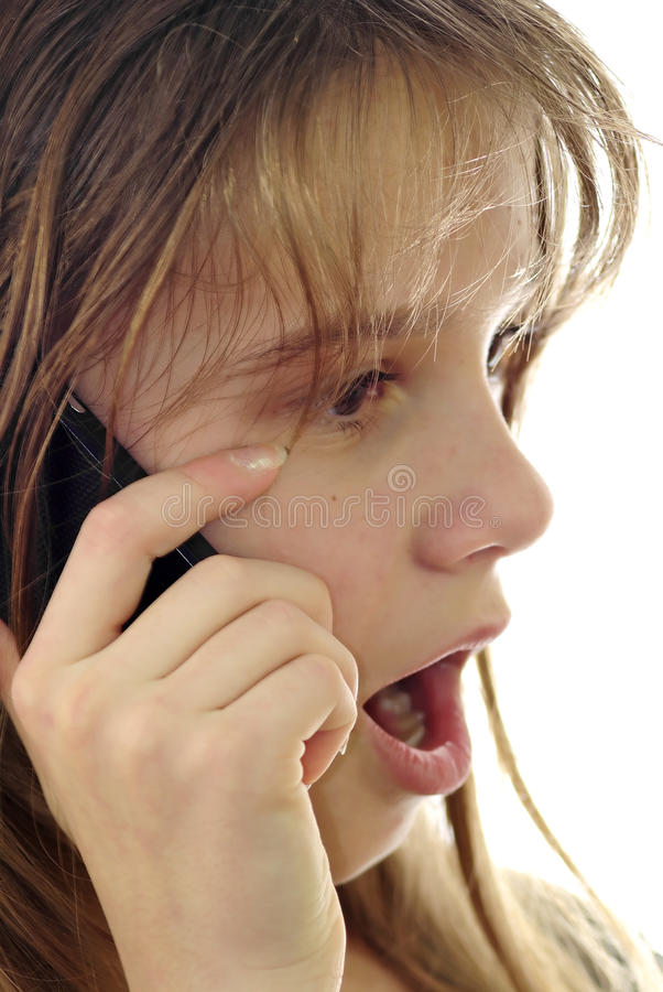 Download Shocking news stock image. Image of call, brunette, connection - 17782515