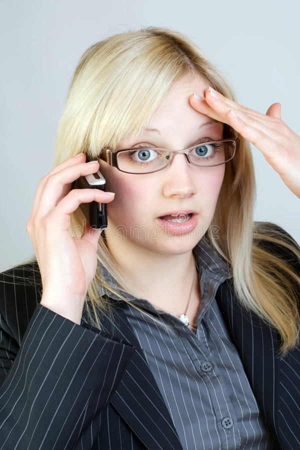 Download Shocking news stock photo. Image of office, mobile, frightened - 9168926
