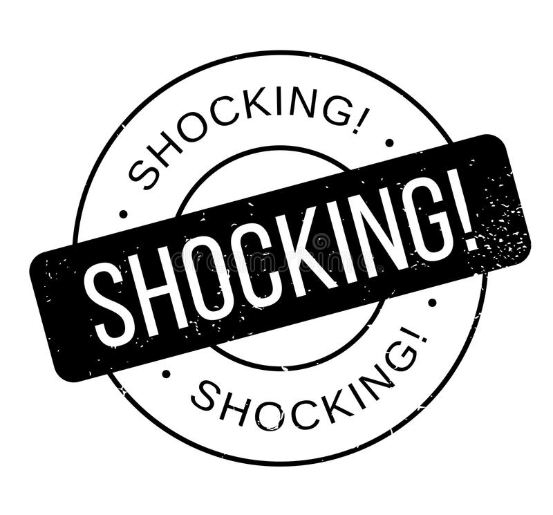 Shocking rubber stamp stock illustration