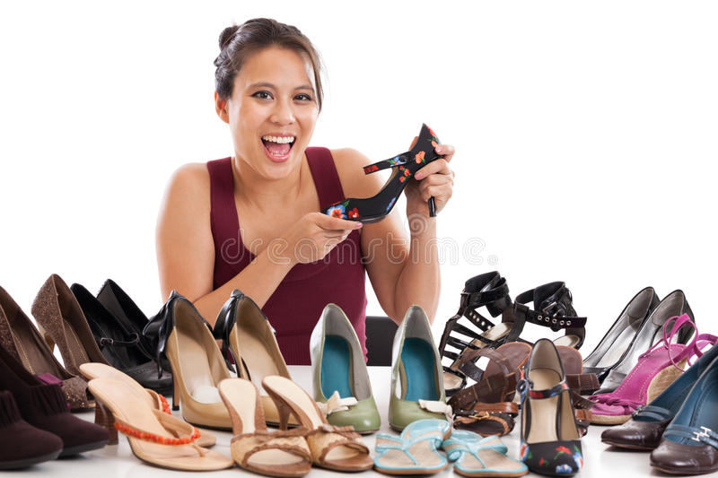 Download Shoe addict stock photo. Image of background, happy, casual - 25598136
