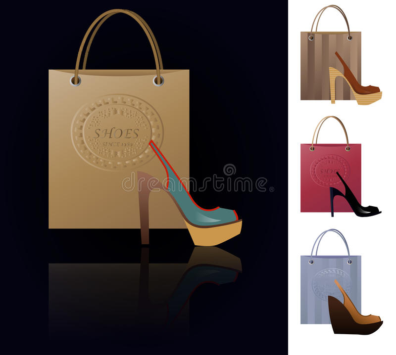 Download Shoe addiction stock illustration. Image of bright, collection - 31770653