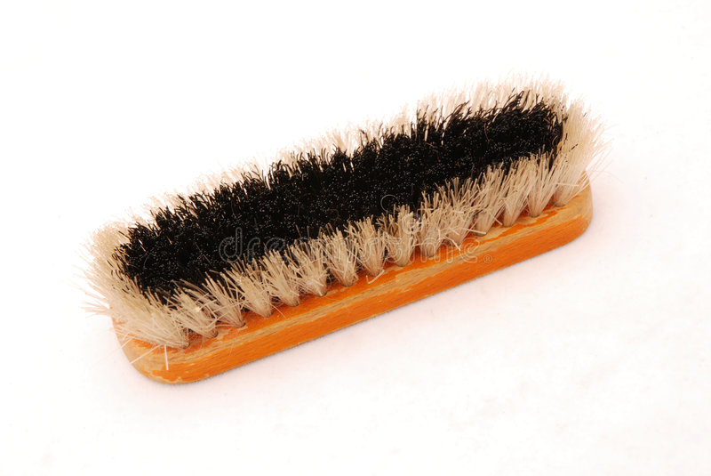 Download Shoe brush stock photo. Image of white, black, isolated - 4568326