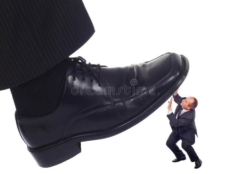 Download Shoe Crushing A Businessman Stock Photo - Image: 18589974