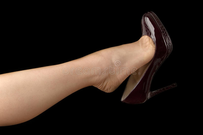 Download Shoe Dangling stock photo. Image of toes, dangling, woman - 16869744