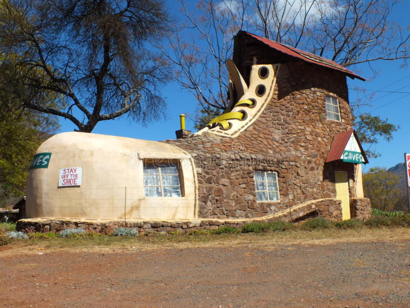 Shoe house ,limpopo. Shoe house in limpopo ,south Africa, africa royalty free stock image
