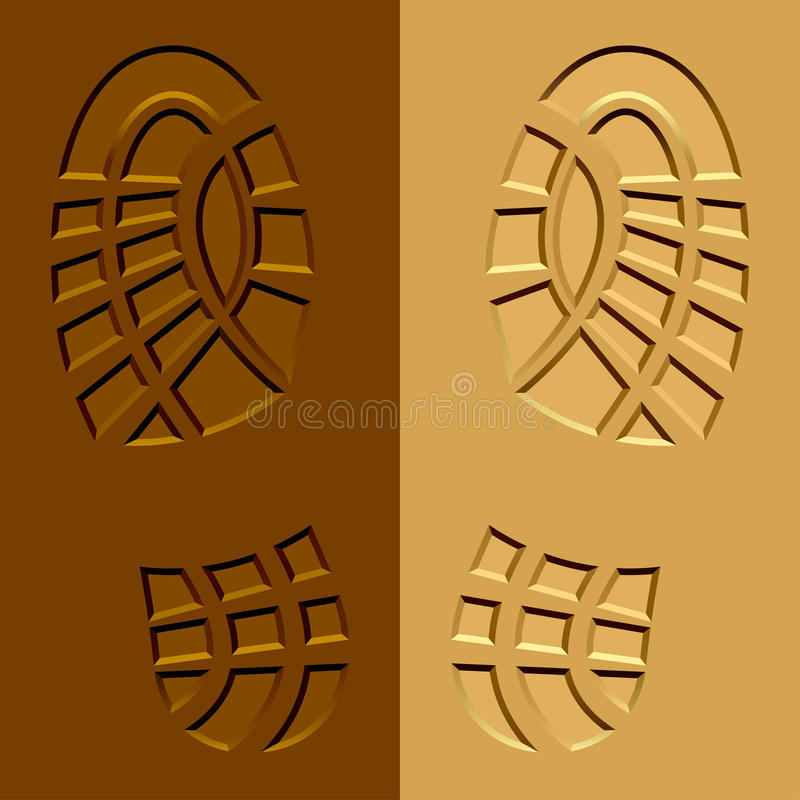 Shoe imprints mud sand. Illustration for the web vector illustration