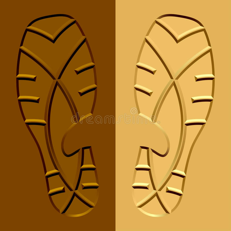 Shoe imprints mud sand. Illustration for the web royalty free illustration