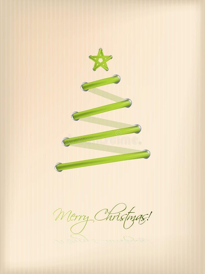 Shoe lace design christmas tree stock illustration