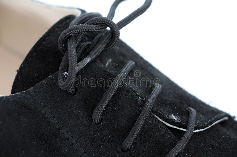 shoe laces in close-up stock images