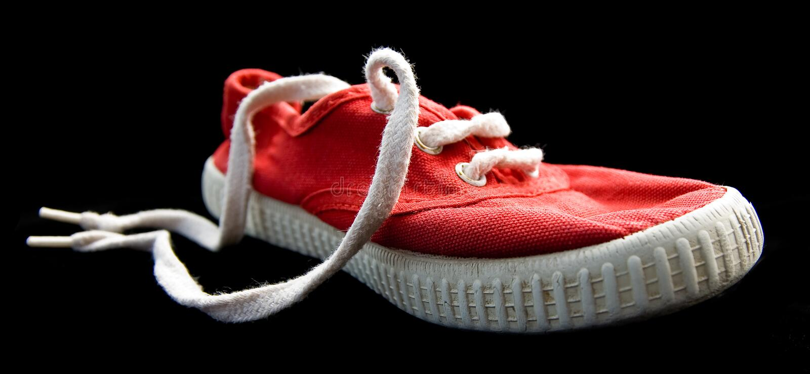 Download Shoe Laces With Isolated On Black Stock Image - Image: 10995181