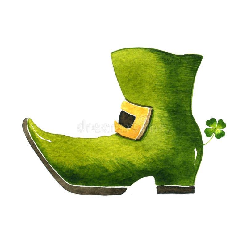Shoe Leprechaun royalty free illustration