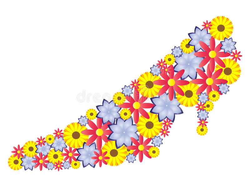 Download Shoe made of flowers stock vector. Illustration of sensuality - 18859665