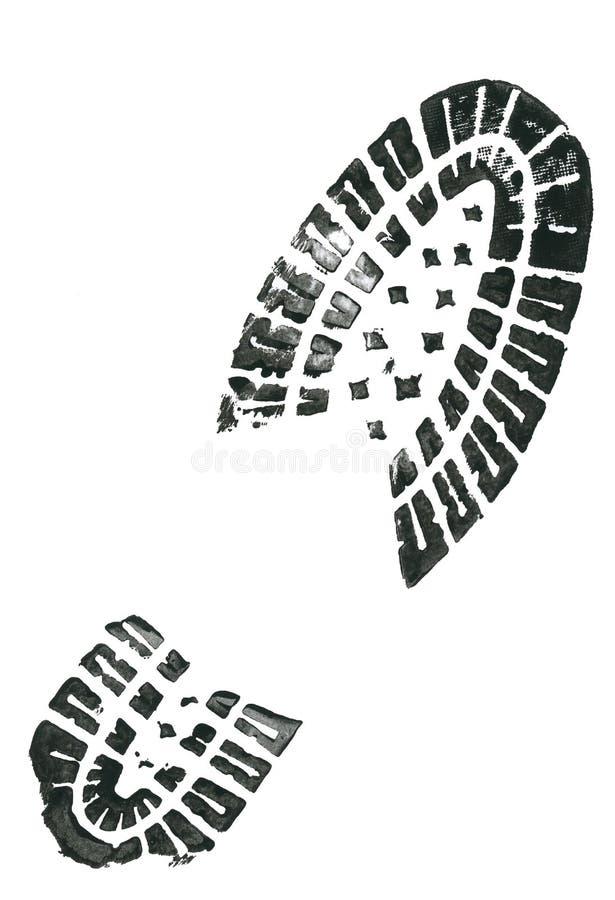 Shoe print stock image