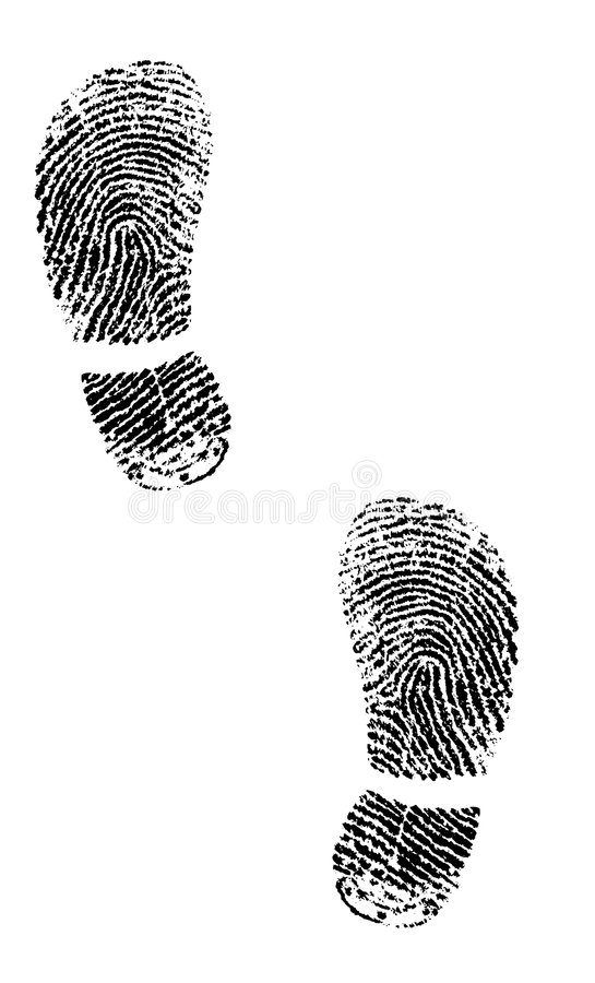 Free Shoe Prints From Fingerprints Royalty Free Stock Images - 1087519