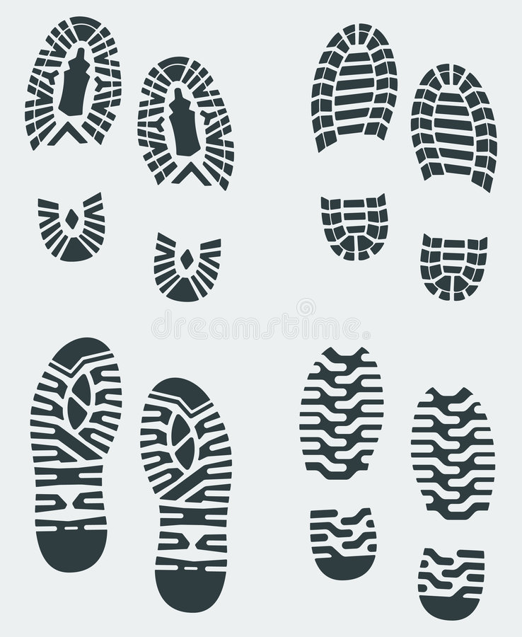 Free Shoe Prints Vector 3 Royalty Free Stock Photo - 2239485