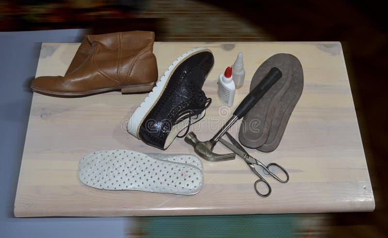 Shoe repair tools stock photography