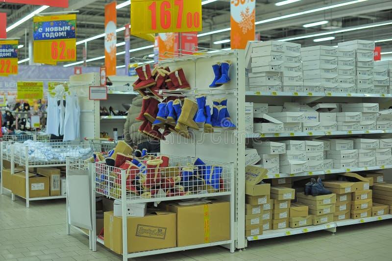 Shoe shelves royalty free stock image