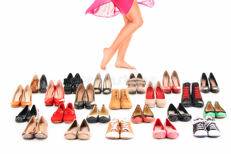 Shoe shopping stock photo