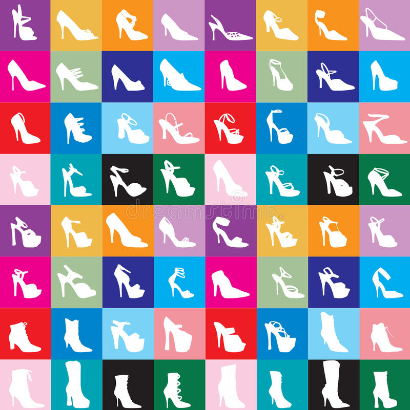 Free Shoe Silhouettes 2 Royalty Free Stock Photography - 13306507