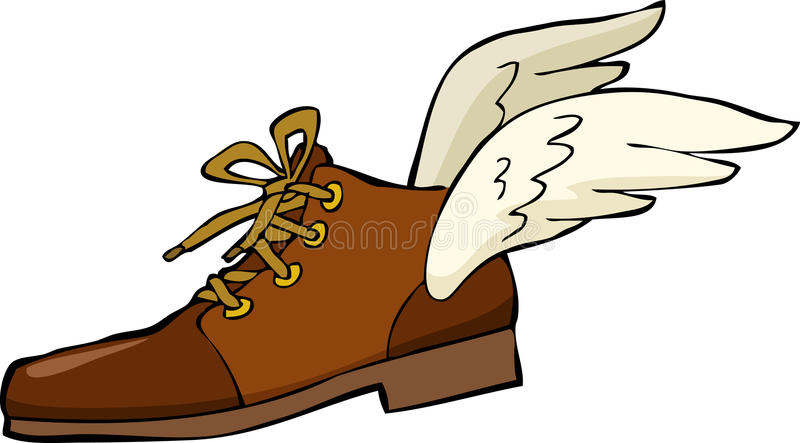 Download Shoe with wings stock vector. Image of nobody, flying - 28131226